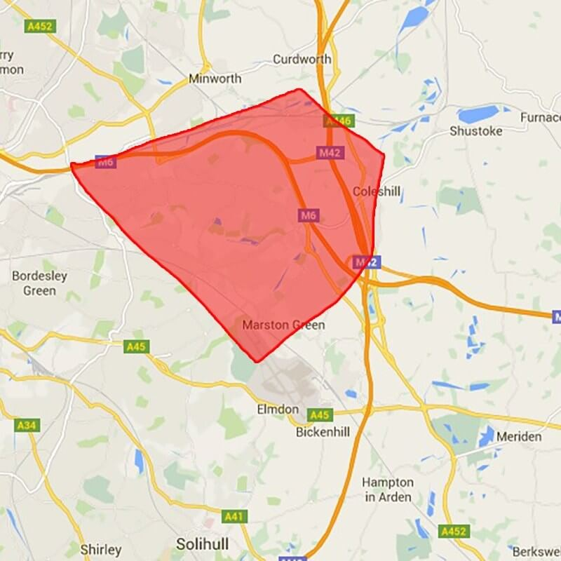 Image of the Castle Bromwich coverage area